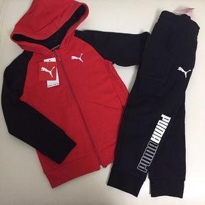 Puma Boy Pants Active Jacket Set